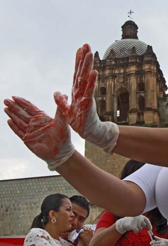 Protesta de mujeres en Santo Domingo.1