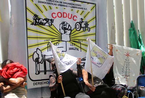 CODUC bloquea Sedesol.