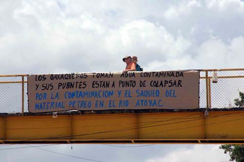 Protesta de ambientalistas