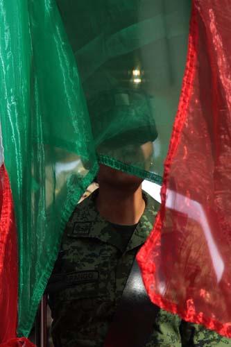 Desfile cívico-militar. Oax.